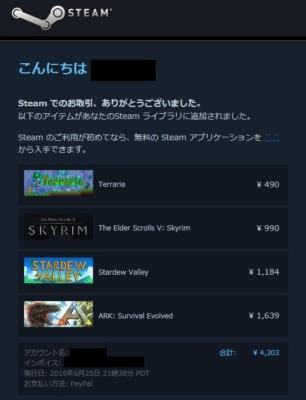 Steamのタイトル