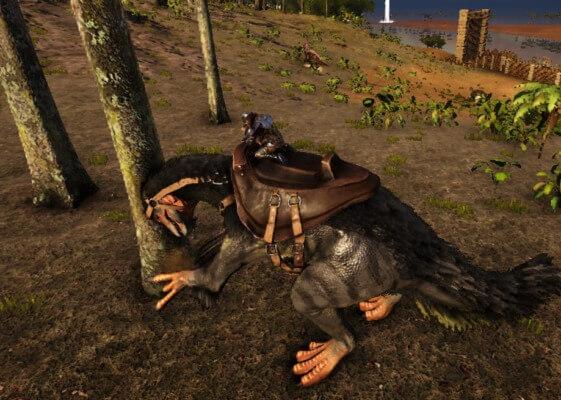 テリジノサウルスで右クリック