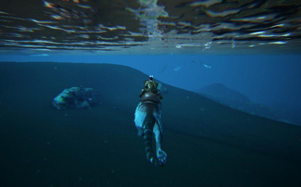 ティラコレオの泳ぎ