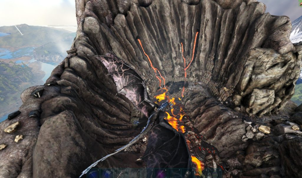 火山の山頂