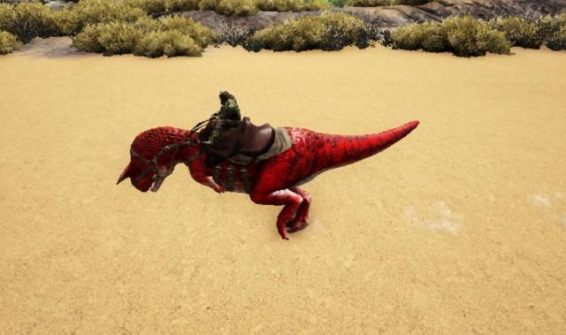 カルノタウルスに騎乗