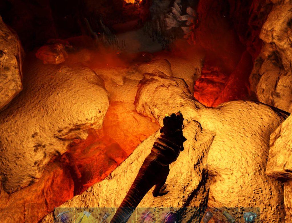 大物の洞窟のマグマ