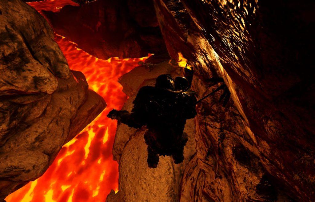 大物の洞窟でグラップリングフック