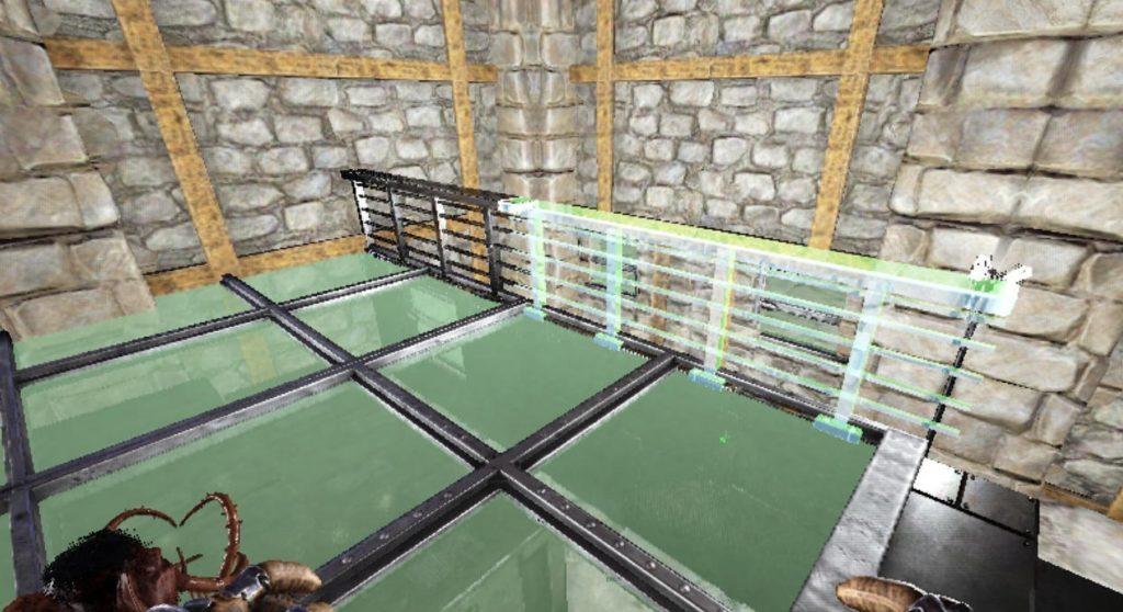 柵と階段の設置