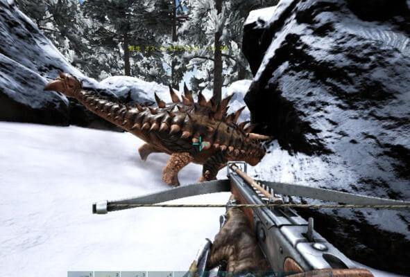 アンキロサウルスのテイム