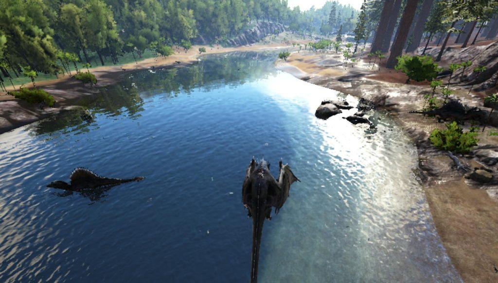 アイランドのスピノサウルスの生息場所