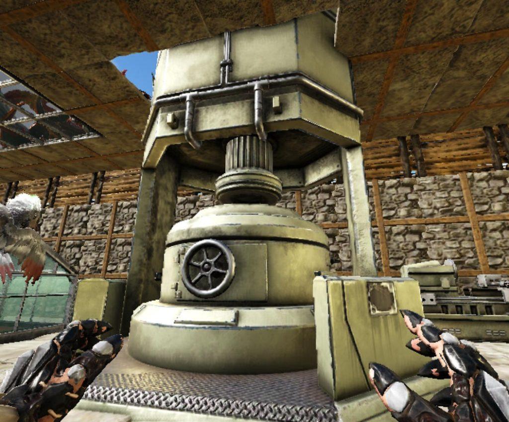 2階に出した工業炉