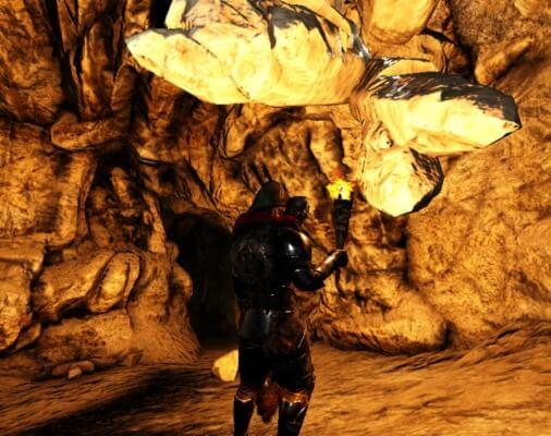 狩人の洞窟の水晶