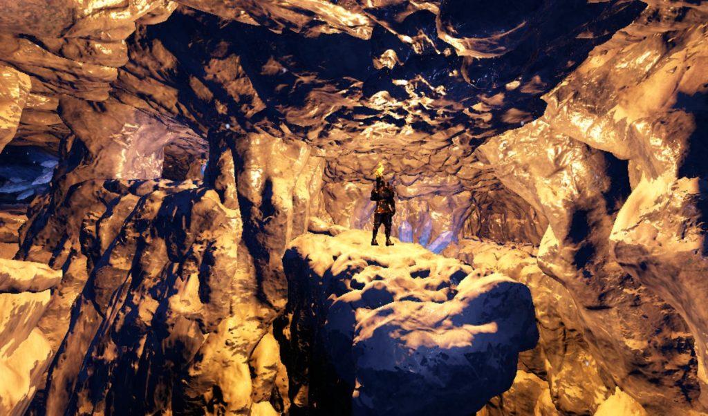 天帝の洞窟内