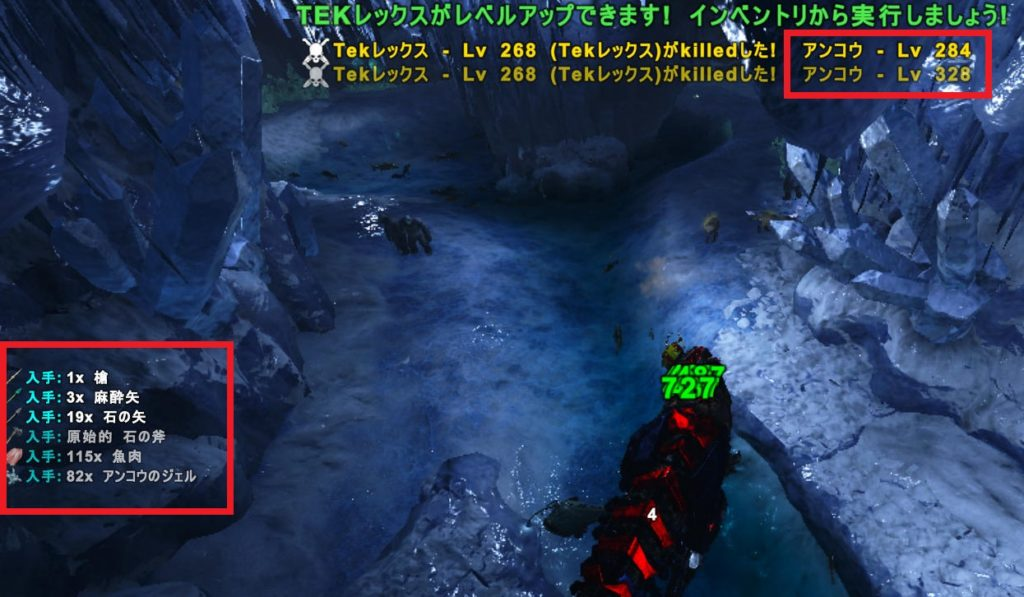 強者の洞窟でアンコウ狩り