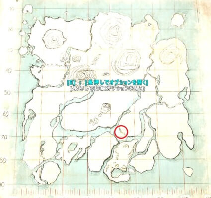 アイランド群集の洞窟の場所