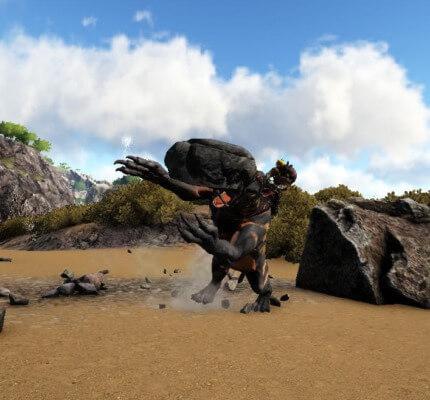 カリコテリウムの岩投げ