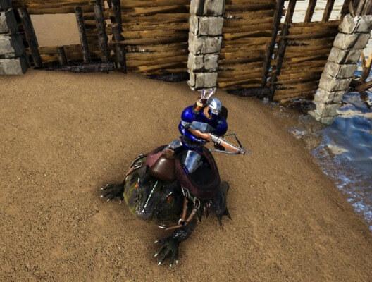 ベールゼブフォの上から騎乗攻撃