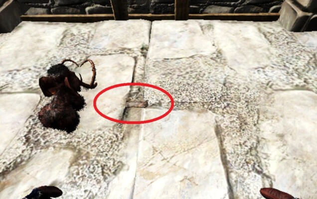 石のパイプ設置