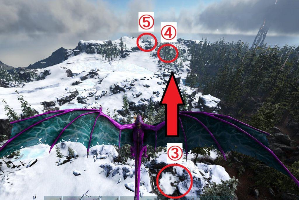 アイスワイバーンの巣の道順