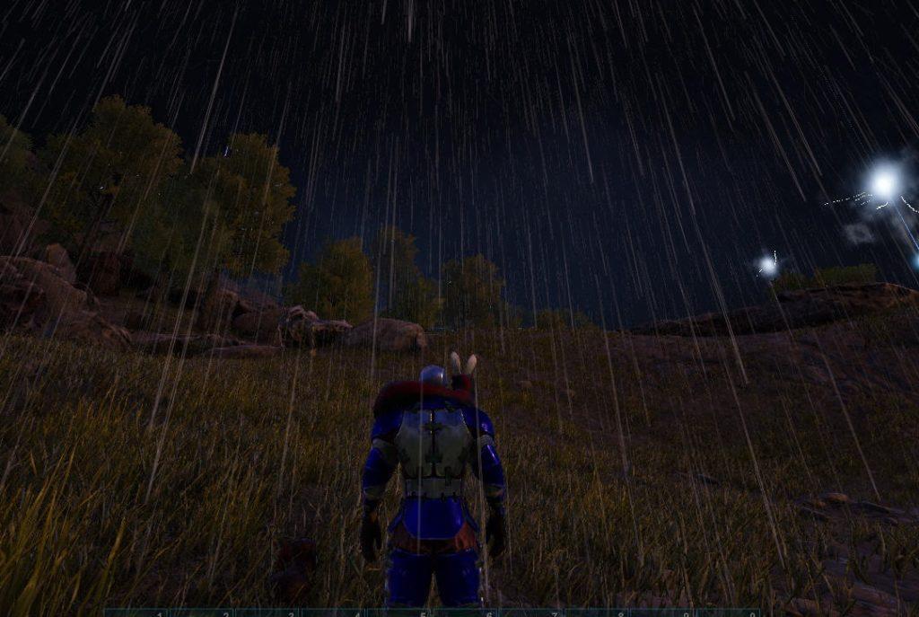 悪天候の闇