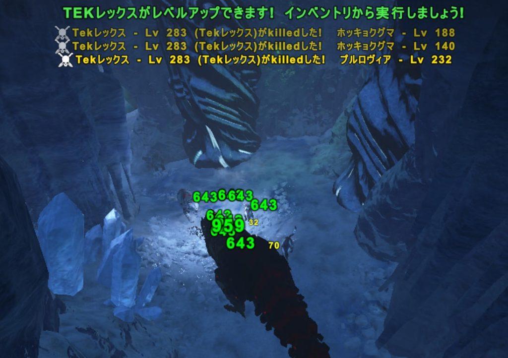 強者の洞窟でレベル上げ
