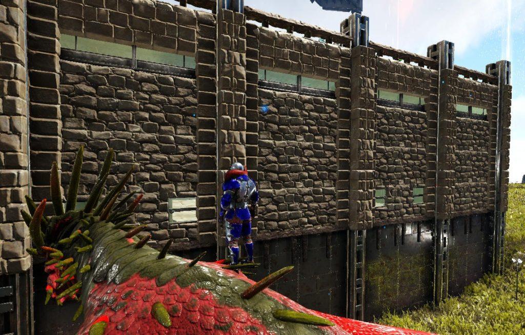 フェンス土台を使ったオシャレな壁