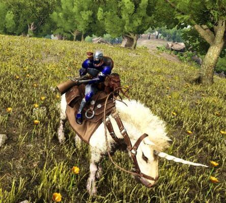 エクウスの上から騎乗攻撃