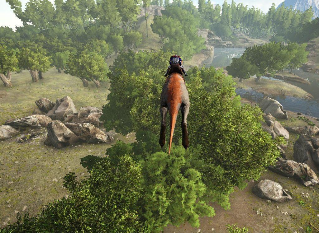 プロコプトドンのジャンプ