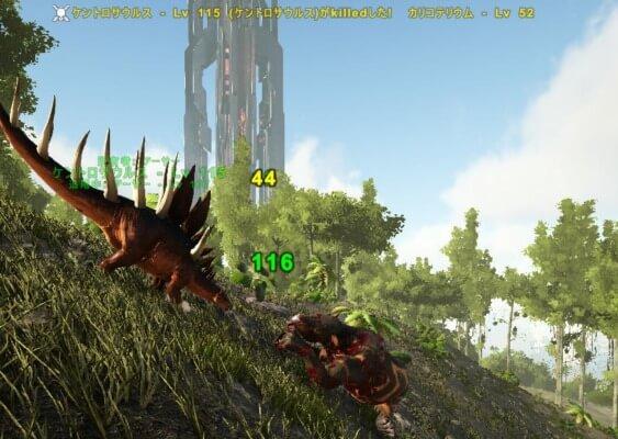 ケントロサウルスの戦闘