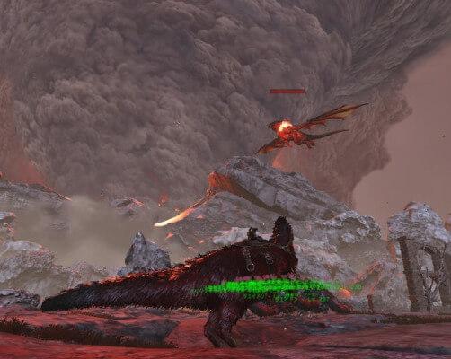 ドラゴンの火球攻撃