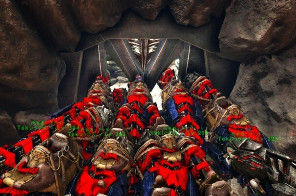 TEK洞窟入口の狭さ