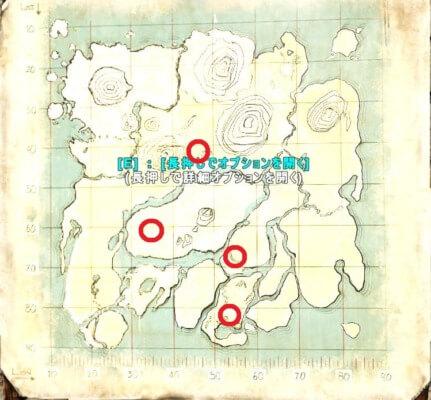 アイランドのアースロプレウラの生息場所
