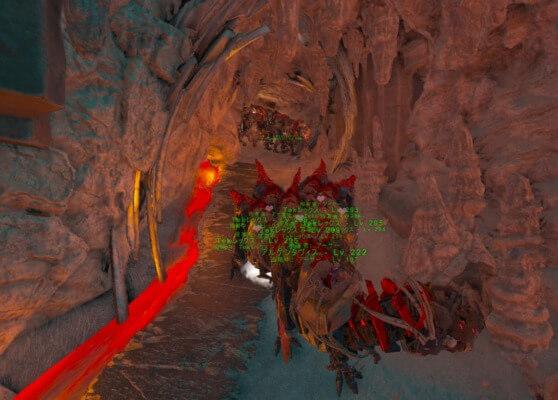 TEK洞窟内