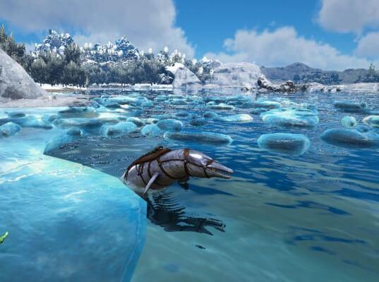 バシロサウルスで海底洞窟へ