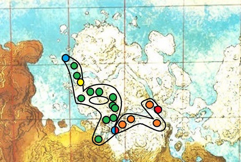 クリスタルアイルズの海底洞窟の見取り図