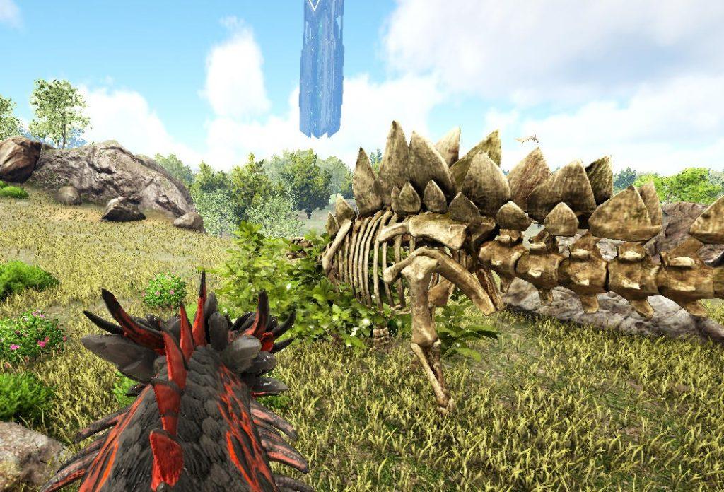 骨のステゴサウルス