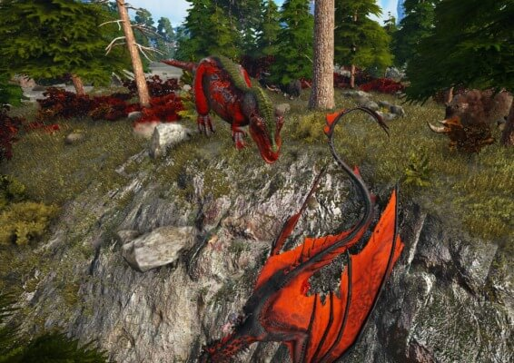 赤いティラノサウルス