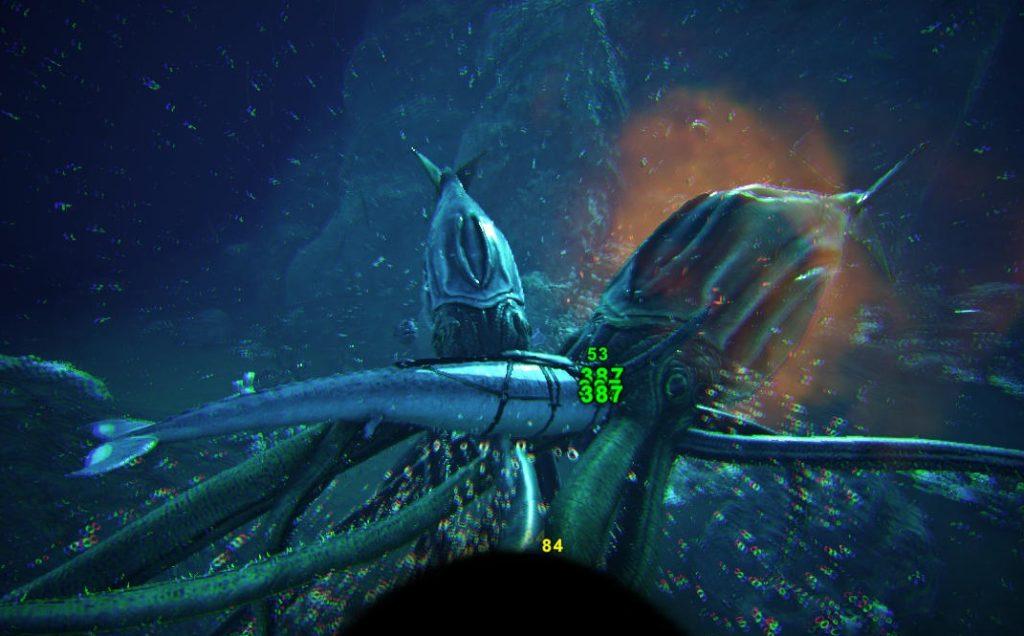 クリスタルアイルズで深海生物狩り