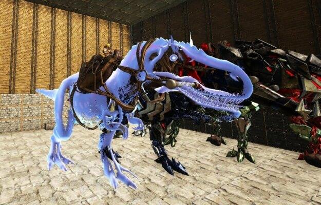 ゴーストティラノサウルスに騎乗