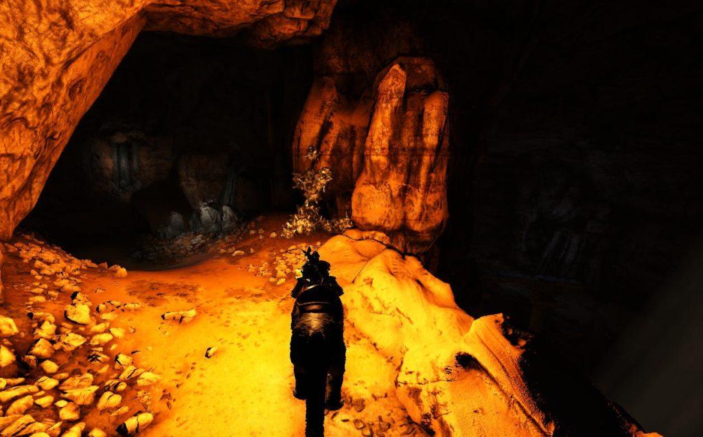 破壊者の洞窟内部