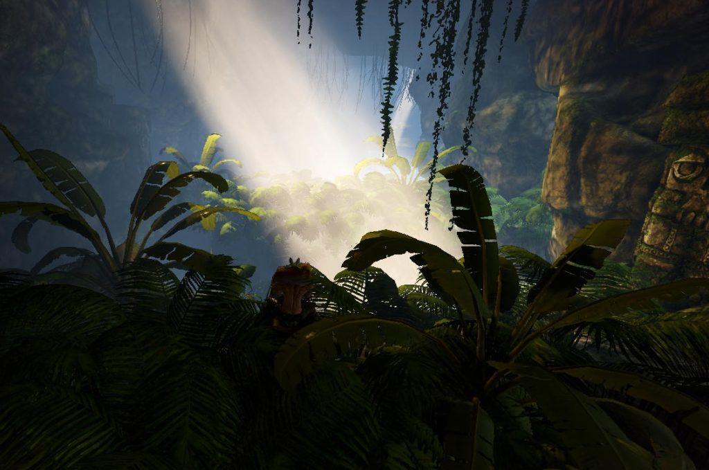 ジャングル洞窟の雰囲気