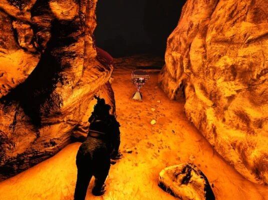 門番の洞窟内の赤クレート