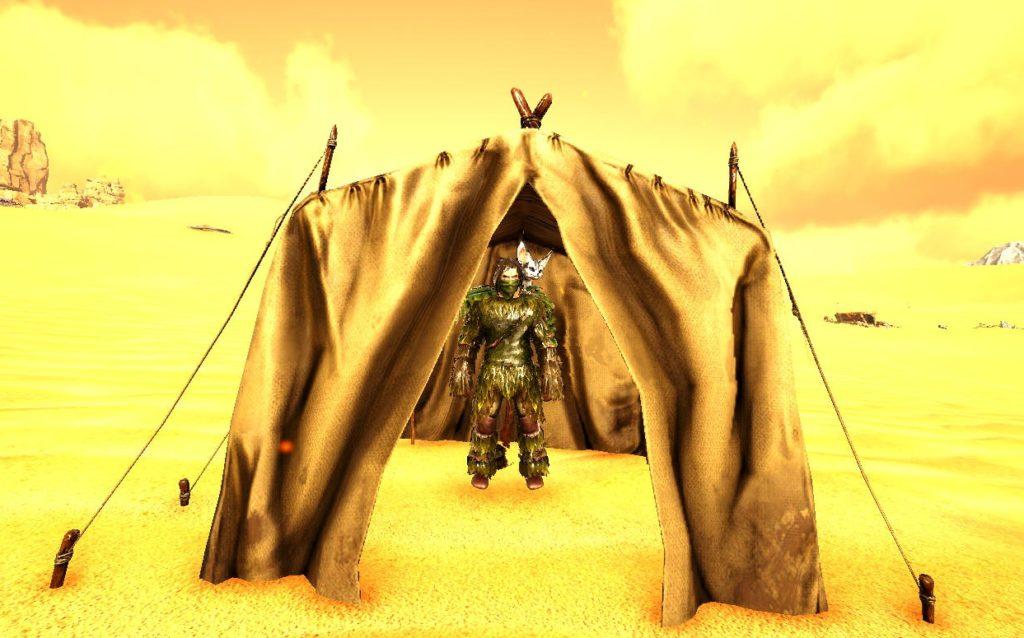テントの外観