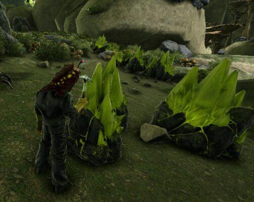 緑の宝石採掘