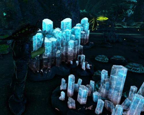 青い宝石採掘
