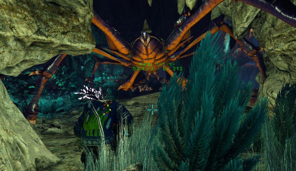 影の洞窟でカルキノス