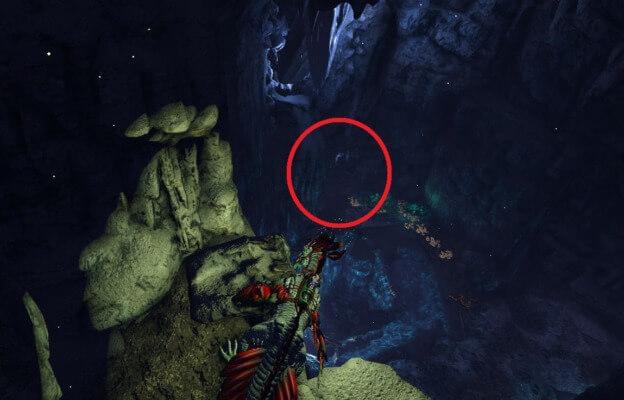 洞窟最初の穴