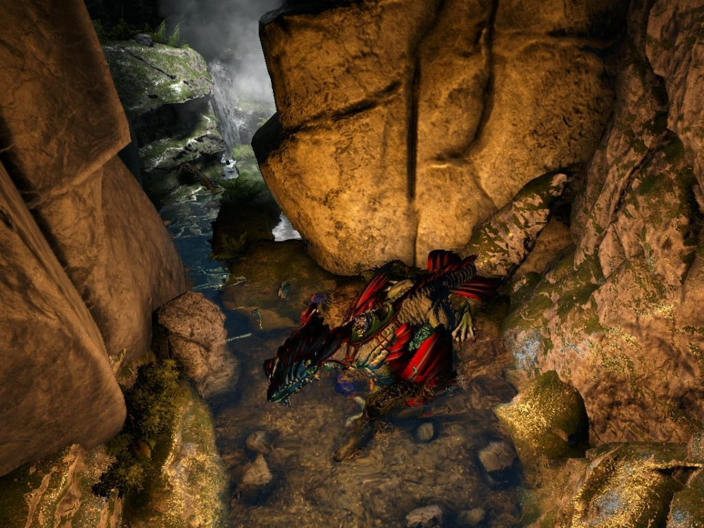 下を流れる危険な川