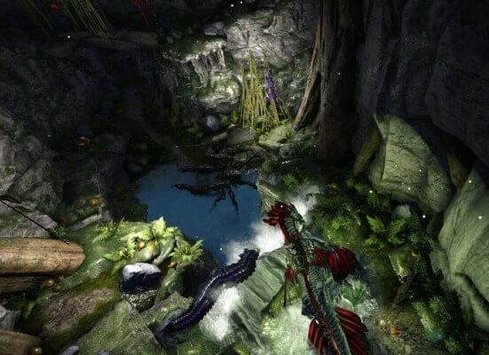堕落の洞窟内のカルキノス