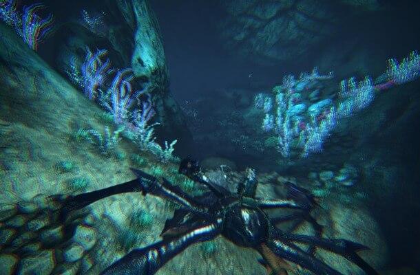 水中でカルキノス移動
