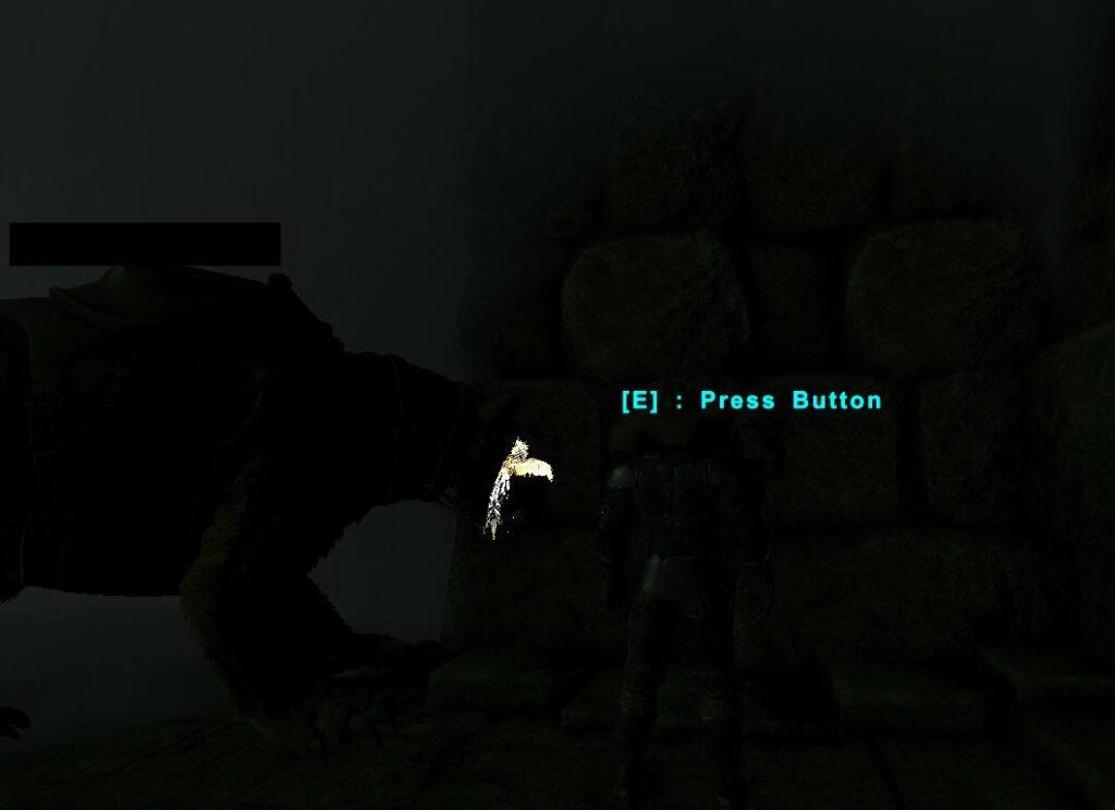 扉を開けるボタン