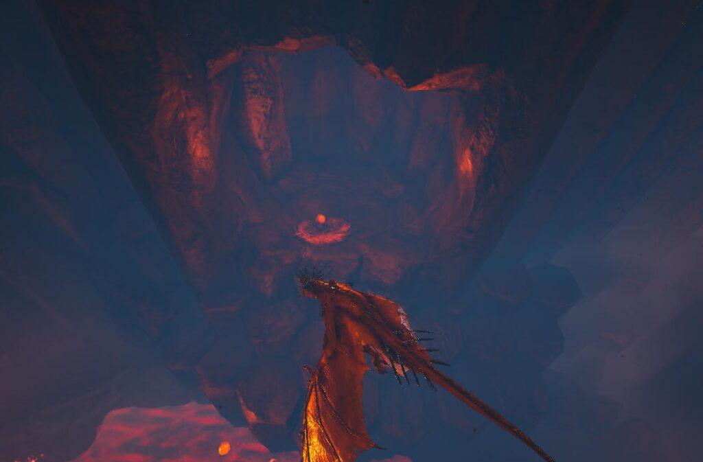 溶岩洞窟のファイアワイバーンの巣