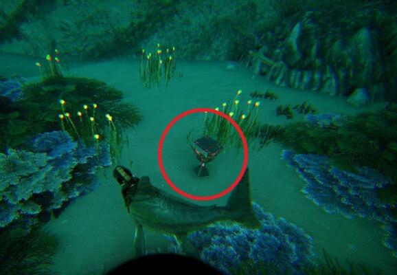46.3 32.9の深海クレート