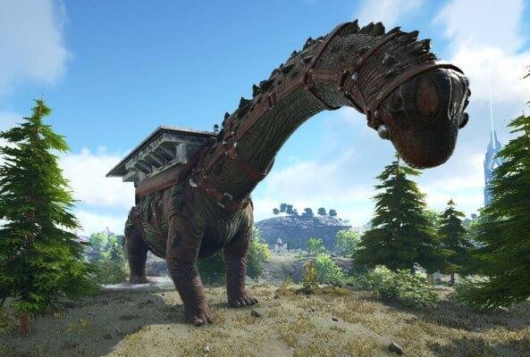 ティタノサウルスの後ろ足攻撃
